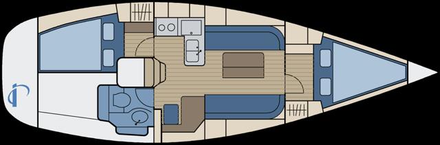 Dufour 34 - 2 Kabinen